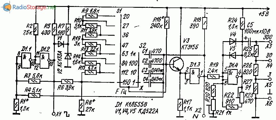 Функциональный генератор на логической микросхеме