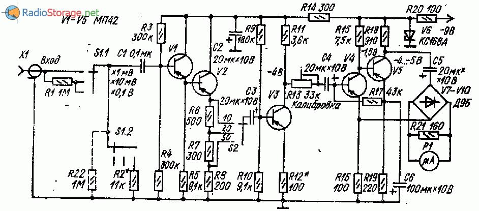Милливольтметр переменного тока