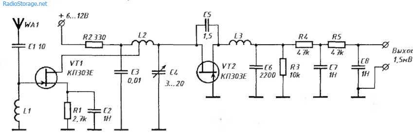 Сверхрегенеративный приемник на 88 — 108 мГц