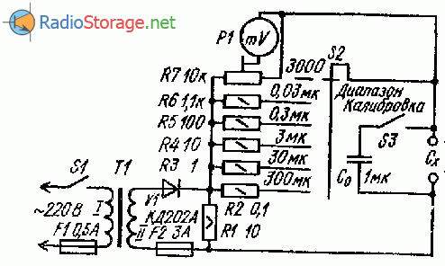 Измеритель емкости электролитических конденсаторов
