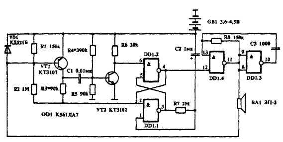 Измеритель емкости на логических микросхемах