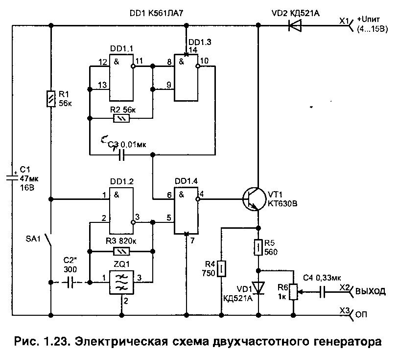Генератор для ремонта радиоаппаратуры