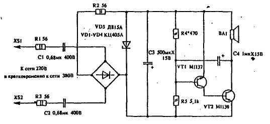 Простой усовершенствованный светодиодный индикатор сетевого напряжения