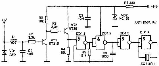 Простой детектор радиоволн антижучек